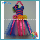 Colorful Tutu Bow Holder With Ribbon And Sunflower