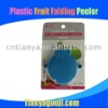 Plastic fruit folding peeler