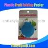 Plastic fruit folding peeler