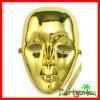 Mardi Gras Plastic Face Mask: Gold