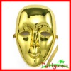 Mardi Gras Plastic Face Mask: Gold