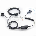 Walkie talkie throat mic with acoustic tube finger PTT for motorola MTH850,MTH800 radio