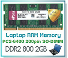 DDR2 800 2GB Laptop RAM Memory