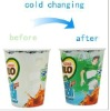 V-Shaped Plastic Cold Water Color Changing Cup