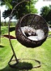 round steel discount promotion rattan hanging chair