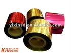 Red Metalized PVC film