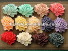 2012Newest Resin Flower for decorating necklace Pendant or ring 46*36mm