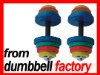 20kg color rubber dumbbell set