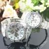 fashion man luxury automatic brand wrist couple watch
