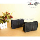 black simple style thickened canvas cotton cosmetic bag wallet for women