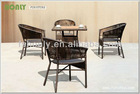 Outdoor leisure wicker hotel furniture modern table and chair