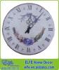 wooden printed wall clock