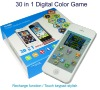 30 in 1 digital handheld game with colorful display, touch keypad and recharge function