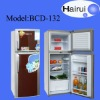 132 Liter Top freezer double door refrigerator
