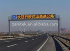 Expressway double color info led display