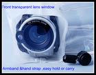 TPU waterproof bag for video camera in swimming diving
