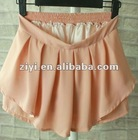 Small fresh ruffles sweet retro high waist Joker Lena skirt culotte knee-length chiffon skirts