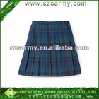 100%polyester school uniform plaid skirt, pleated skirt for school girls
