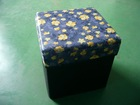 Morden design MDF+wooden frame ottoman with printed fabric