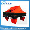 latest throw over yacht inflatable life raft with 4 persons