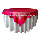 100% polyester red white satin hotel/banquet Table linen