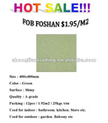 "$1.95/m2 HOT SALE !!! Green color Salt and Pepper Tile 400x400mm 16""x16"""