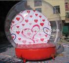 inflatable wedding snow globe