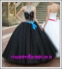2012 Long Satin Beading Ball Gown Prom Dress