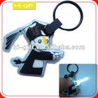 custom promotion gift pvc key ring torch