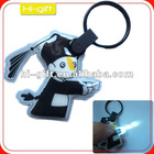 custom promotion gift pvc key ring torch