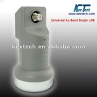 low noise high gain universal ku band single lnb / lnbf