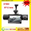 New Arrival 2.7 inch TFT LCD screen X7000 double camera 9712 lens CAR DVR