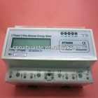Three phase 7 Pole LCD Display Three wire Electronic DIN-rail Active Energy Meter
