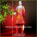 Hand painted chinese terra-cotta warriors statue