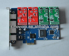 new generation 4 Port FXS/FXO Asterisk PCI-E Card