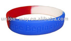 national flag color bracelet in silicone