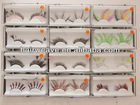make up party wearing feather eyelashes