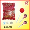 21g Halal Bubble Gum Strawberry Lollipop