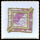 square sequins applique for costumes