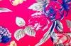 Printed linen/rayon fabric