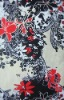 10DY10596 100% Cotton voile with printed