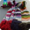 Acrylic knitted striped scarf for Autumn& Winter