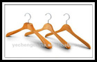 Antique wooden clothes hangers with beautiful wood grain