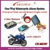 one way motorcycle alarm system with engine start