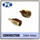 Gold SMA male straight connector coaxial