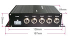 Car black box support up to 4 video and audio inputs