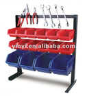 16pcs Storage Bin rack with Magnetic strip (202719)