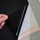 Black carbon fiber vinyl with air free bubble