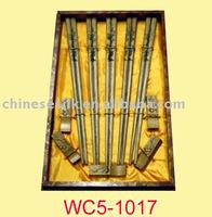 carved wood chopsticks