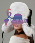 BGGB-103 Genuine Fox Fur Hat with earflaps OEM Wholesale/Retail